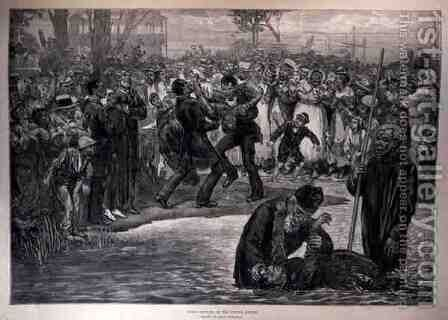Negro Baptism in the United States, from The Illustrated London News, 21st May 1887 by (after) Regamey, Felix - Reproduction Oil Painting