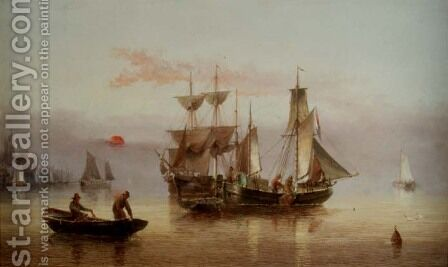 Calm on the Humber by Henry Redmore - Reproduction Oil Painting