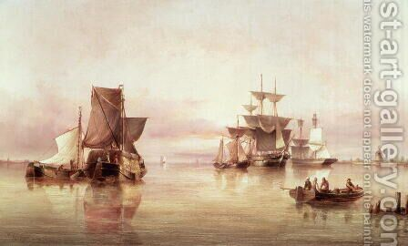 Shipping Scene 2 by Henry Redmore - Reproduction Oil Painting