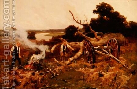 Logging Time by Arthur Walker Redgate - Reproduction Oil Painting