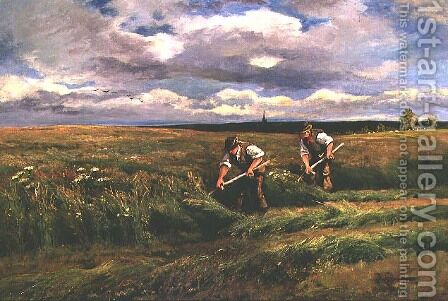 The Hay Harvest by Arthur Walker Redgate - Reproduction Oil Painting