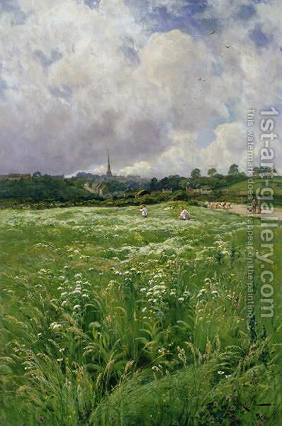 Haymaking by Arthur Walker Redgate - Reproduction Oil Painting