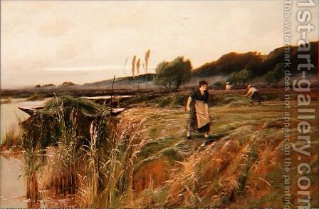 A Summer Harvest by Arthur Walker Redgate - Reproduction Oil Painting