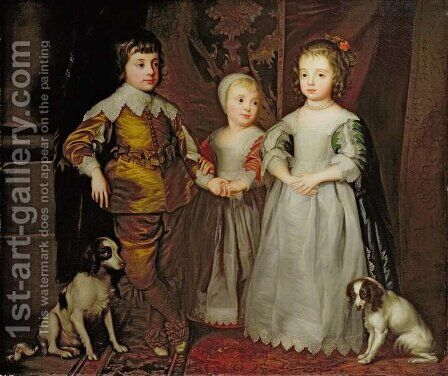 The Children of Charles I by Catherine Read - Reproduction Oil Painting
