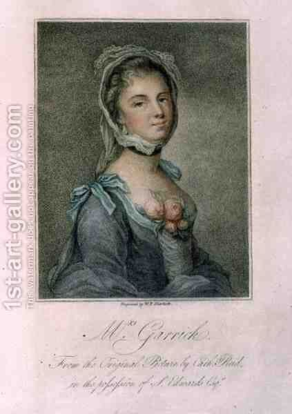Mrs Garrick, engraved by W.P. Sherlock, 1802 by Catherine Read - Reproduction Oil Painting