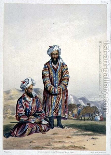 Oosbegs of Mooraud Bey, plate 20 from Scenery, Inhabitants and Costumes of Afghanistan, engraved by W.L. Walker, 1848 by (after) Rattray, James - Reproduction Oil Painting