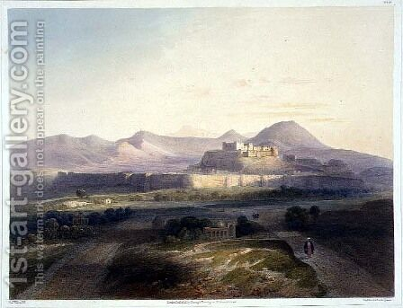 Town and citadel of Ghuznee, plate 18 from Scenery, Inhabitants and Costumes of Afghanistan, engraved by W.L. Walton, 1848 by (after) Rattray, James - Reproduction Oil Painting