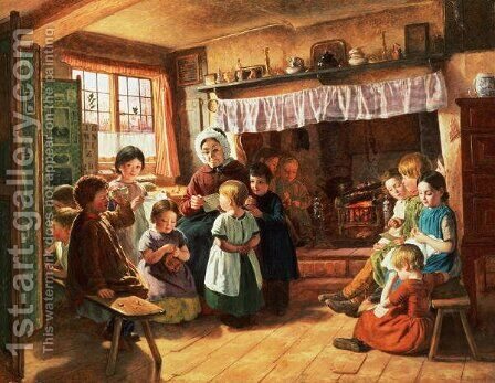 The School Room by Alfred Rankley - Reproduction Oil Painting