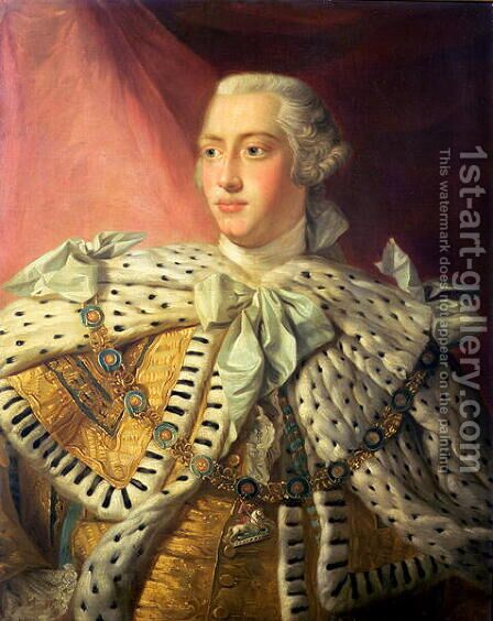 George III, 1762-82 by Allan Ramsay - Reproduction Oil Painting