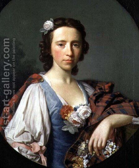 Portrait of Flora Macdonald 1722-90 by Allan Ramsay - Reproduction Oil Painting