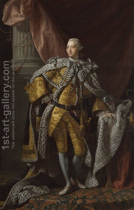 King George III 1738-1820 by Allan Ramsay - Reproduction Oil Painting