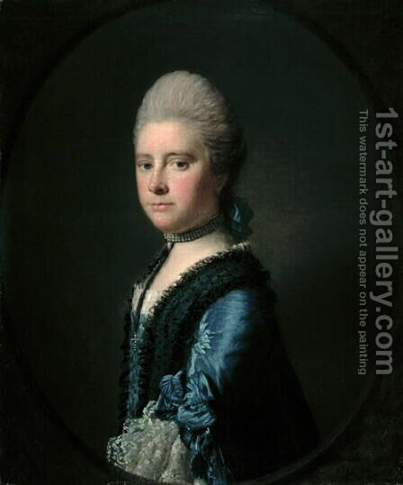 Mrs Tracy Travell by Allan Ramsay - Reproduction Oil Painting