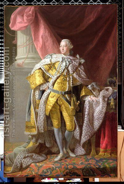 George III 1738-1820 by Allan Ramsay - Reproduction Oil Painting