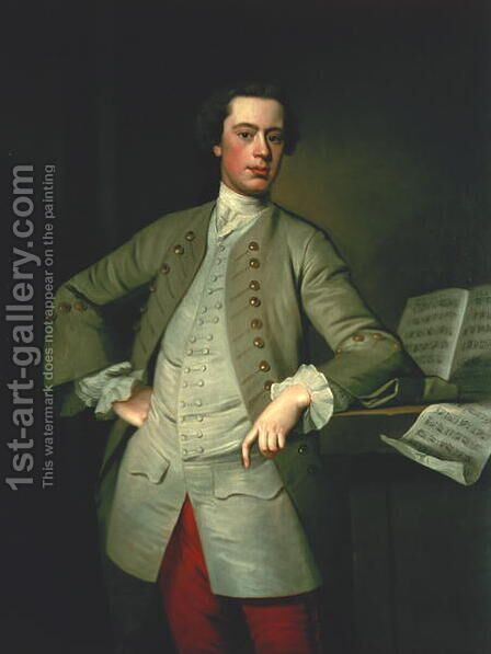 William Finch by Allan Ramsay - Reproduction Oil Painting