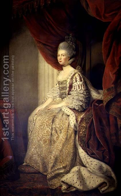 Queen Charlotte by Allan Ramsay - Reproduction Oil Painting