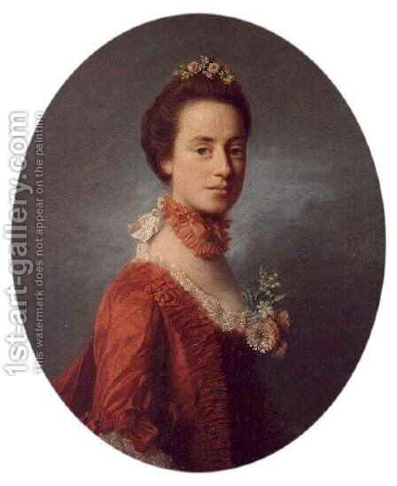 Lady Mary, wife of Lord Robert Manners 1737-1819 by Allan Ramsay - Reproduction Oil Painting