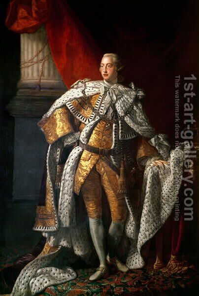 King George III 1738-1820 c.1762-64 by Allan Ramsay - Reproduction Oil Painting