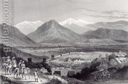 Cabul from the Bala Hissar, engraved by J. Stephenson, c.1870 by (after) Ramage, J - Reproduction Oil Painting