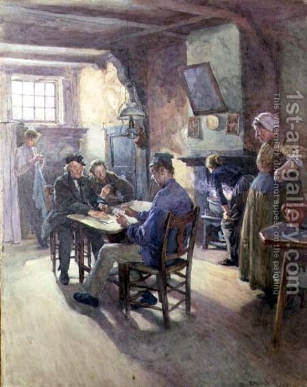 A Dutch Lodging House by (after) Rainey, William - Reproduction Oil Painting