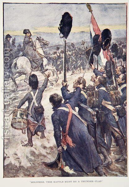 Soldiers, This Battle Must Be A Thunder Clap, plate from The Story of France, by Mary MacGregor, 1920 by (after) Rainey, William - Reproduction Oil Painting