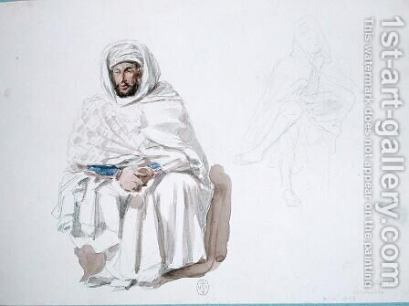 An Arab from Constantine, 1839 by Auguste Raffet - Reproduction Oil Painting