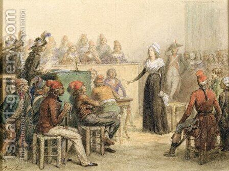 The Trial of Marie Antoinette, 1845 by Auguste Raffet - Reproduction Oil Painting