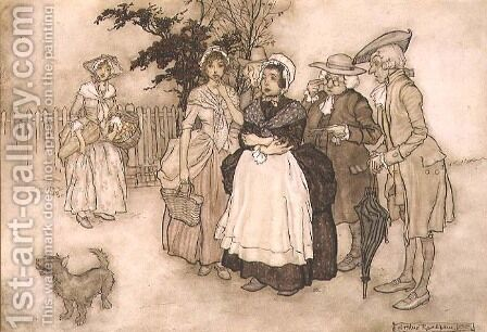 All Stood Amazed, scene from Rip Van Winkle by Washington Irving 1783-1859 1905 by Arthur Rackham - Reproduction Oil Painting