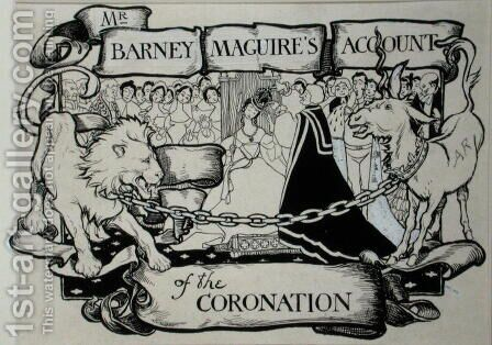 Mr Barney Maguires Account of the Coronation, illustration from The Ingoldsby Legends or Mirth and Marvels, by Thomas Ingoldsby, published 1898 by Arthur Rackham - Reproduction Oil Painting