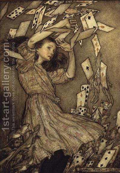 Illustration from Alices Adventures in Wonderland by Lewis Carroll 1832-98 1907 by Arthur Rackham - Reproduction Oil Painting