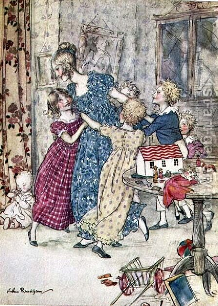 A flushed and boisterous group, book illustration by Arthur Rackham - Reproduction Oil Painting