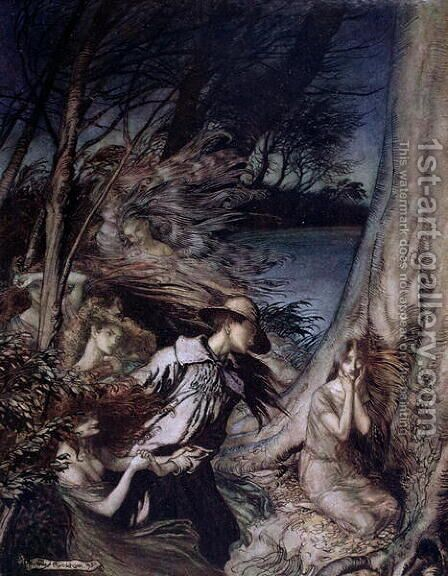 Fairy Illustration, 1912 by Arthur Rackham - Reproduction Oil Painting