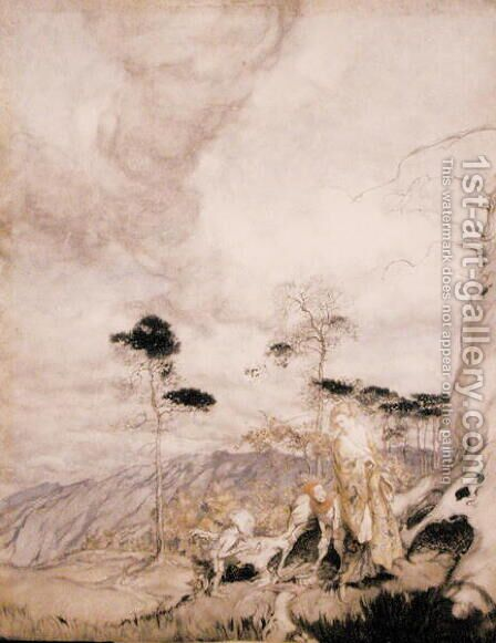 Fairy Egg Vendors by Arthur Rackham - Reproduction Oil Painting