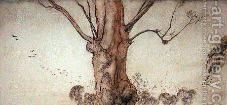 Barbaras Tree by Arthur Rackham - Reproduction Oil Painting