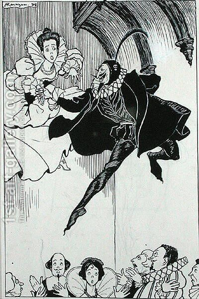 A Grand Pas de Deux, illustration from The Ingoldsby Legends, or Mirth and Marvels, by Thomas Ingoldsby, 1898 by Arthur Rackham - Reproduction Oil Painting