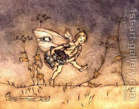 Fairy, illustration from A Midsummer Nights Dream, published by Heinemann, 1908 by Arthur Rackham - Reproduction Oil Painting