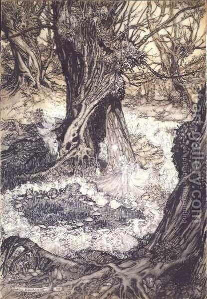 Come, now a Roundel, 1908 by Arthur Rackham - Reproduction Oil Painting