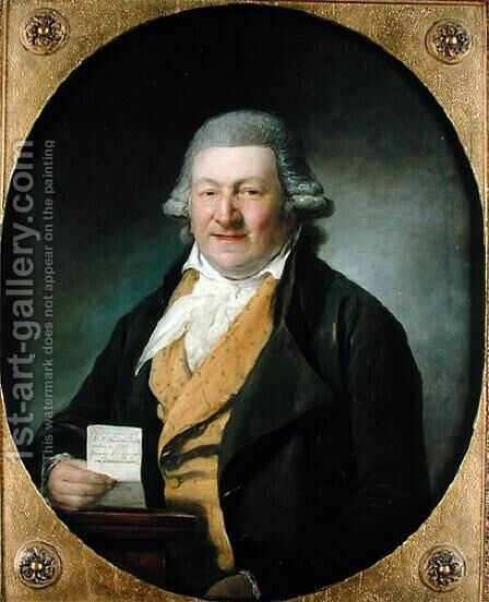 Portrait of Mr Lehman Ruben, 1796 by Martin Ferdinand Quadal - Reproduction Oil Painting