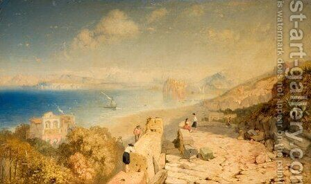 Castle of Ischia and the Gulf Islands, 1863 by James Baker Pyne - Reproduction Oil Painting