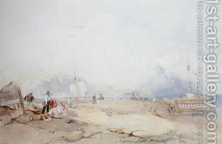 Dover Harbour, 1839 by James Baker Pyne - Reproduction Oil Painting