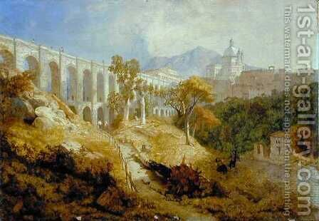 The Aqueduct at Arricia, Near Rome, 1866 by James Baker Pyne - Reproduction Oil Painting