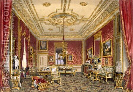 The Queens Private Sitting Room, Windsor Castle, 1838 by James Baker Pyne - Reproduction Oil Painting