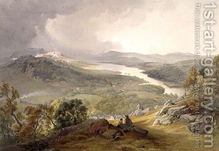 Lake Windermere, from The English Lake District, 1853 by James Baker Pyne - Reproduction Oil Painting