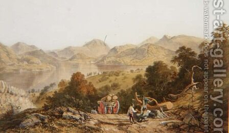Ullswater, from The English Lake District, 1853 by James Baker Pyne - Reproduction Oil Painting