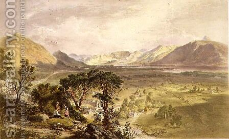 Bassenthwaite, from The English Lake District, 1853 by James Baker Pyne - Reproduction Oil Painting