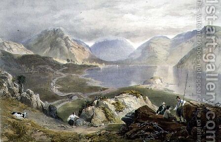 Wast Water, from The English Lake District, 1853 by James Baker Pyne - Reproduction Oil Painting
