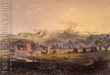 Castlerigg Stone Circle near Keswick, from The English Lake District, 1853 by James Baker Pyne - Reproduction Oil Painting
