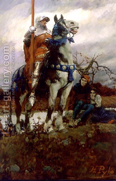 The Coming of Lancaster, 1908 by Howard Pyle - Reproduction Oil Painting