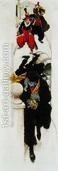 Vignette from A Puppet of Fate, 1899 by Howard Pyle - Reproduction Oil Painting