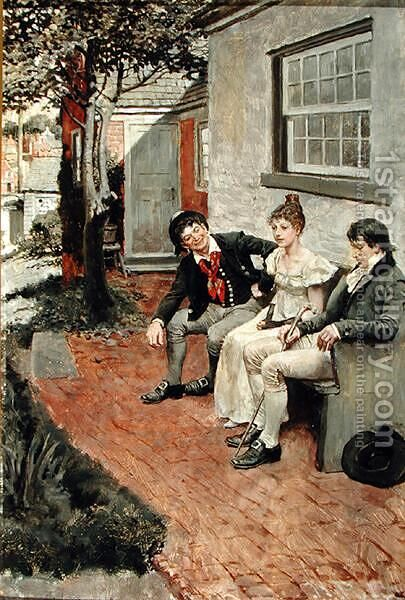 A Sailors Sweetheart, from By Land and Sea by Howard Pyle, published in Harpers Monthly Magazine, December 1895 by Howard Pyle - Reproduction Oil Painting
