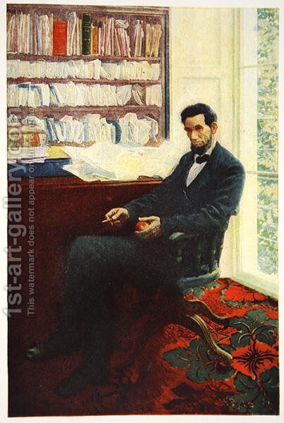 Portrait of Abraham Lincoln by Howard Pyle - Reproduction Oil Painting